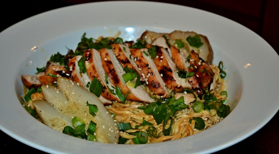 Chicken with Sesame Noodles