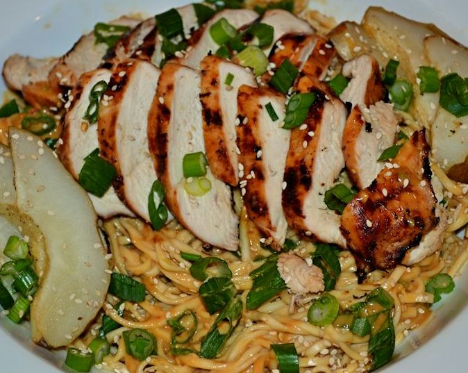 Grilled Chicken and Sesame Noodles- Featured Image
