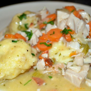 Chicken and Dumplings- Plated