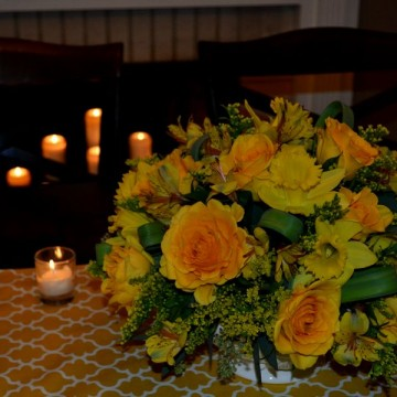Progressive Dinner- Dining Room Centerpiece