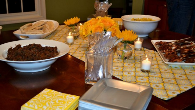 Progressive Dinner- Serving Table