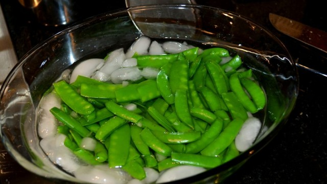 Pork Tenderloin Post- Peas in Ice Bath