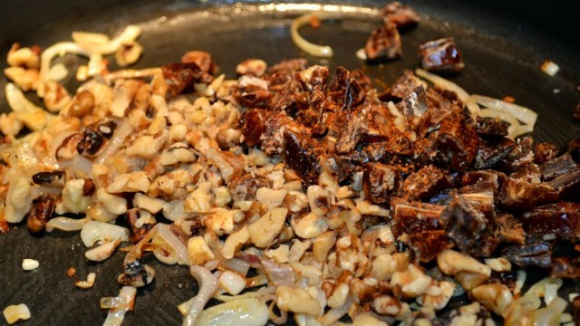 Pork Tenderloin Post- Shallots, Walnuts & Dates